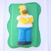 138.Modelovaný marcipánový dort 3D – Homer Simpson