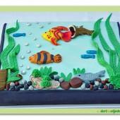 241. Marcipánový dort – Akvarium