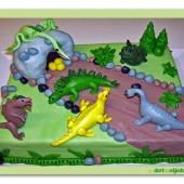 92.Marcipánový dort – Dinosauří svět