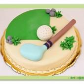288.Marcipánový dort na Golfové téma