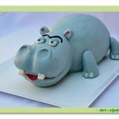 226.Marcipánový modelovaný dort 3D – Hroch