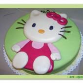 88.Marcipánový dort s dekorem Kočička Kitty