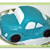146.Marcipánový dort auto VW brouk