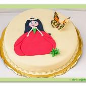 126.Marcipánový dort s dekorem Maková panenka