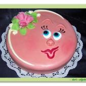 303.Marcipánový dort – Smajlík
