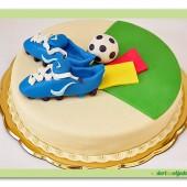 283. Marcipánový dort na fotbalové téma