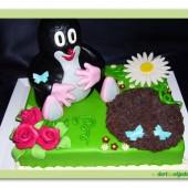 80. Marcipánový modelovaný – Krtkův dort