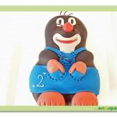 81.Marcipánový modelovaný dort 3D – Krtek