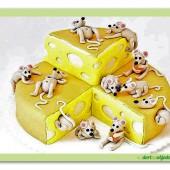 238.Marcipánový dort myšky v sýru