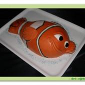 93.Marcipánový modelovaný 3D dort – Nemo