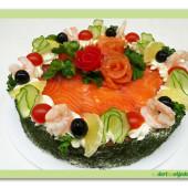 218.Slaný rybí dort