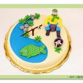 304.Marcipánový dort na rybářské téma