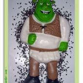 136.Marcipánový modelovaný 3D dort – Shrek