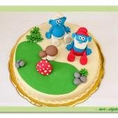103.Marcipánový dort – Šmoulové