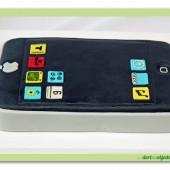 305.Modelovaný marcipánový dort 3D – Telefon Apple