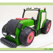 154.Modelovaný marcipánový dort 3D -Traktor Fendt