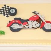 156.Motorkářský marcipánový dort