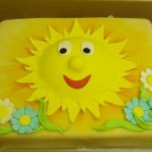 140.Marcipánový dort Sluníčko