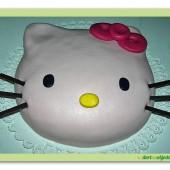 85.Marcipánový dort hlava Kočičky Kitty