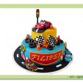 74.Cars patrový marcipánový dort