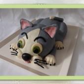 230. Modelovaný marcipánový dort 3D – Kočka