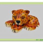 227. Modelovaný marcipánový dort 3D -Tygr
