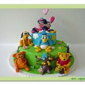 132.Disney patrový marcipánový dort s motivy animovaných pohádek