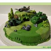 267.Military patrový marcipánový dort