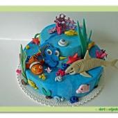 94.Nemo – patrový marcipánový dort