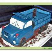 152.Marcipánový modelovaný auto dort – nákladní Tatra
