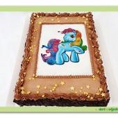 119.Pařížský dort s jedlým obrázkem – My little pony