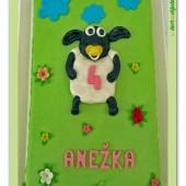 96.Marcipánový dort s dekorem ovečka Shaun