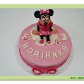 123.Marcipánový dort s postavičkou Minnie