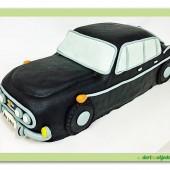 150.Marcipánový modelovaný dort  –  Auto veterán – Škoda 603