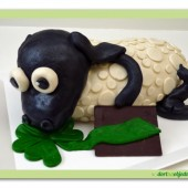 95.Marcipánový modelovaný dort 3D – Ovečka Shaun