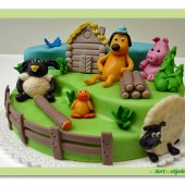 97.Marcipánový dort patrový  – Ovečka Shaun