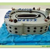 98.Marcipánový modelovaný dort 3D – pevnost Boyard