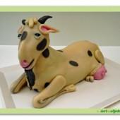 234.Marcipánový modelovaný dort 3D – Koza