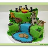 129.Madagascar – patrový marcipánový dort