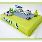 113.Marcipánový dort – Policejní stanice na lego motiv