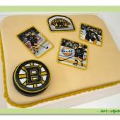 285.Sportovně – fanouškovský marcipánový dort s oblíbeným týmem v dekoraci