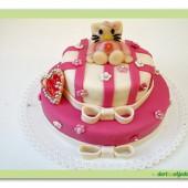 87.Marcipánový patrový tematický dort kočička Kitty