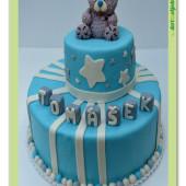 82. Marcipánový patrový tematický dort s medvídkem