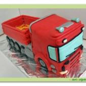 153.Auto dort – modelovaný 3D dort  Kamion