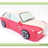147.Modelovaný marcipánový 3D auto dort – malý