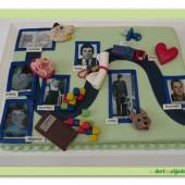292. Marcipánový Tablo dort s jedlým papírem – narozeninový