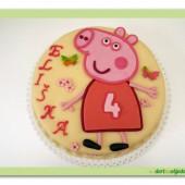 111.Marcipánový dort  – prasátko Pepina