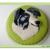 236.Marcipánový dort s reliéfem psí hlavy