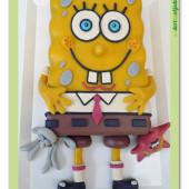 99.Marcipánový modelovaný 3D dort – Sponge Bob & spol