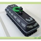 301.Marcipánový modelovaný 3D dort – Rakev